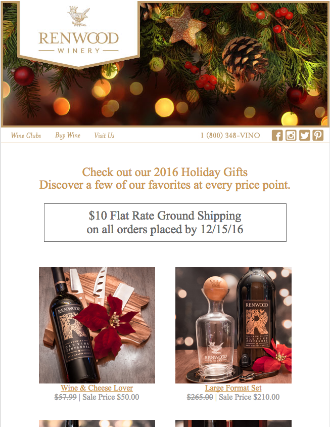 Renwood Winery Holiday Gift Guide